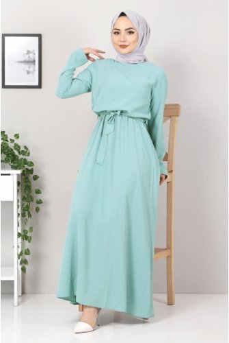 waisted Elastic Ayrobin Dress TSD5522 Mint