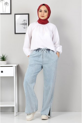 waisted Elastic Pants TSD9903 Buz Mavisi