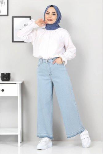 Plentiful Trotter Tasseled Jeans Pants TSD22050 Light blue