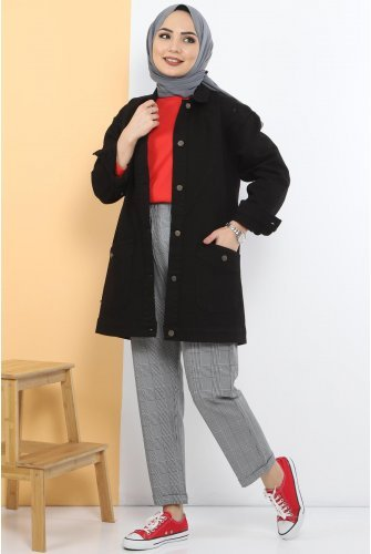 Pockets Jeans Jacket TSD0078 Black