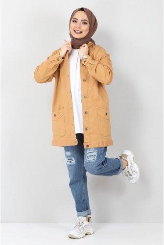 Pockets Jeans Jacket TSD0078 Taba