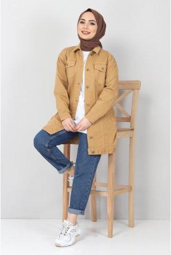 Pockets Jeans Jacket TSD2519 Taba