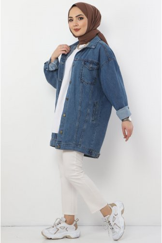 Pockets Jeans Jacket TSD2519 Light blue
