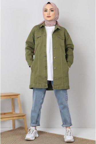 Pockets Jeans Jacket TSD2519 Green