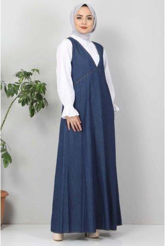 Pockets Jeans Gilet TSD4112 Dark Blue
