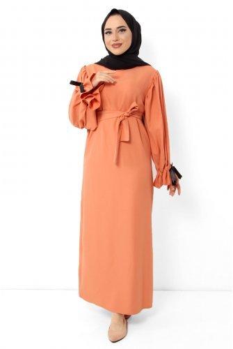 arm Kurdelalı Dress TSD6183 Orange