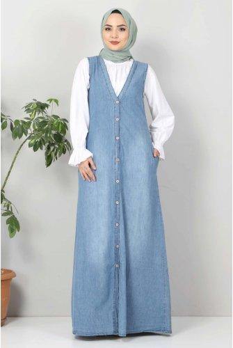 Button Jeans Salopet TSD4170 Light blue