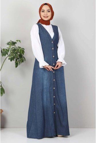 Button Jeans Salopet TSD4170 Dark Blue