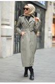 Ekoseli Trench coat TSD5953 Khaki