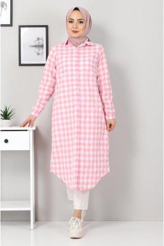 Ekoseli Tunics TSD3309 Pink