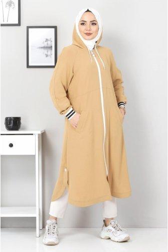 Zipped Ayrobin Women-Jackets TSD21917 Camel