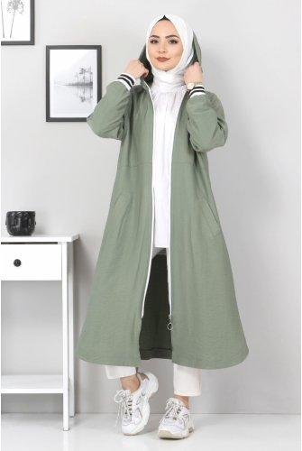Zipped Ayrobin Women-Jackets TSD21917 Khaki