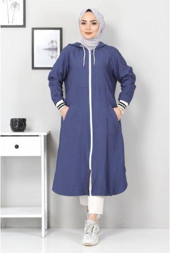 Zipped Ayrobin Women-Jackets TSD21917 Navy blue