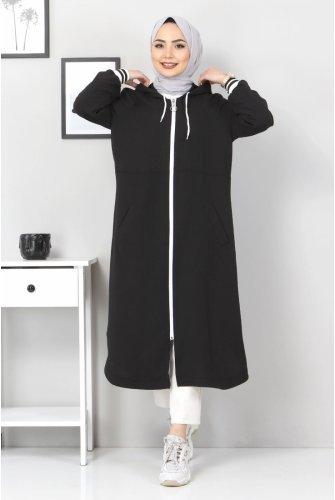 Zipped Ayrobin Women-Jackets TSD21917 Black