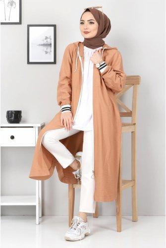 Zipped Ayrobin Women-Jackets TSD21917 Cinnamon
