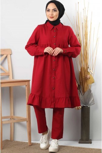 baggy Binary Suit TSD0197 Claret Red