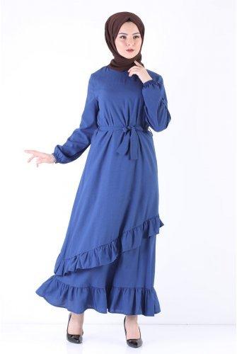 baggy Hijab Dress TSD5774 İndigo