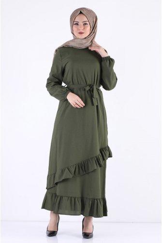 baggy Hijab Dress TSD5774 Khaki
