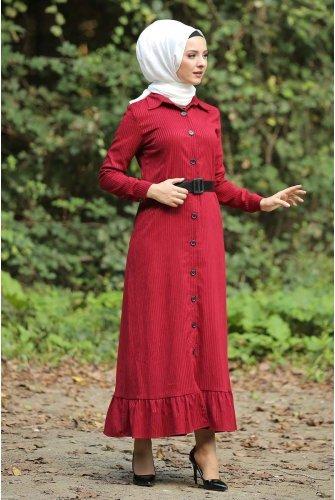 baggy Velvet Dress TSD1847 Red