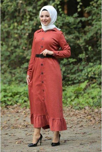 baggy Velvet Dress TSD1847 Tile