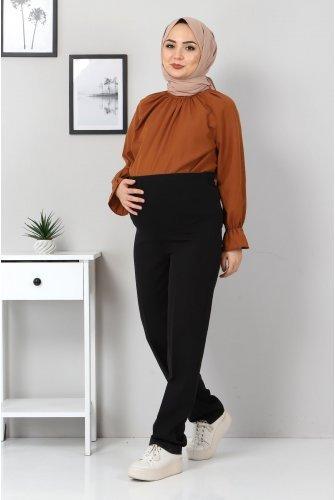 Hamilelik Pantolonu TSD1102 Black