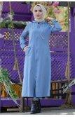 Hooded Hijab Women-Jackets TSD1095 Jeans Mavisi