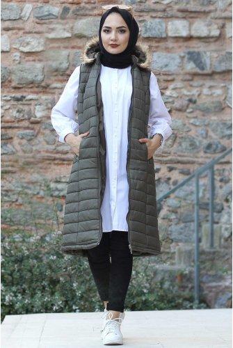 Hooded Inflatable Vest TSD9072 Khaki