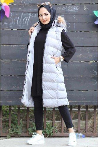 Hooded Inflatable Vest TSD1507 Grey