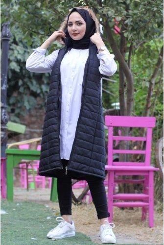 Hooded Inflatable Vest TSD9072 Black