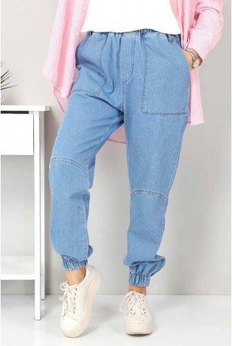 Jogger Jeans Pants TSD22062 Light blue