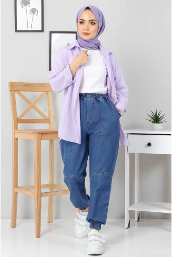 Jogger Jeans Pants TSD22062 Dark Blue
