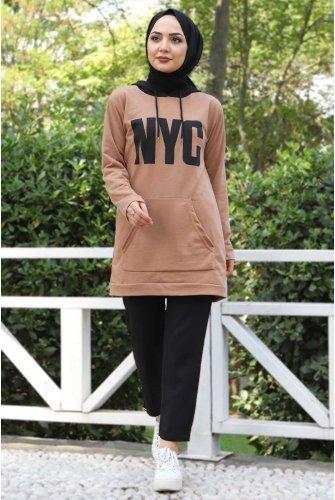 Kanguru Pockets Sweatshirt TSD3320 Mink