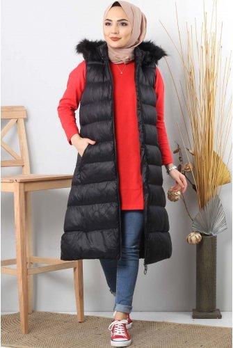 Hooded Inflatable Vest TSD0912 Black