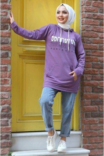 Hooded Sweatshirt TSD3318 Lila