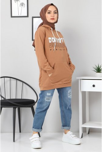 Hooded  Sweatshirt TSD3318 Mink