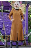 Hooded Hijab Women-Jackets TSD1095 Taba