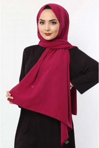 Almadina Silk Wrap S001 wine colored