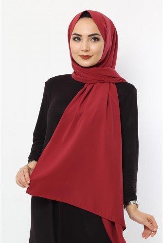 Almadina Silk Wrap S001 Claret Red