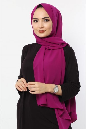 Almadina Silk Wrap S001 Purple