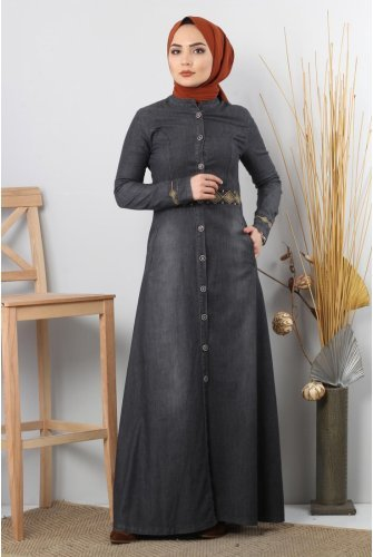 Embroidered Jeans Abayas
