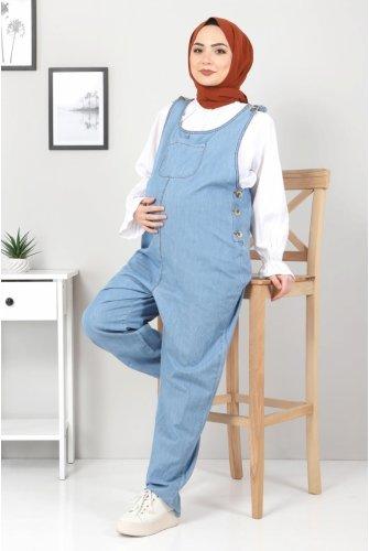 Its Pockets Pregnant Tulumu TSD22051 Light blue