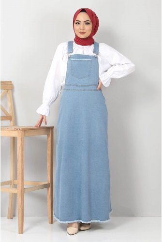 Its Pockets Jeans Salopet TSD22030 Light blue