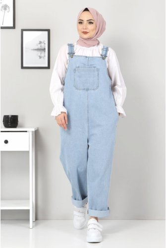 Its Pockets Jeans Overalls TSD22057 Light blue