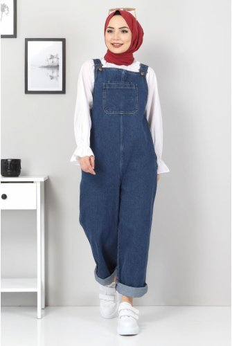 Its Pockets Jeans Overalls TSD22057 Dark Blue
