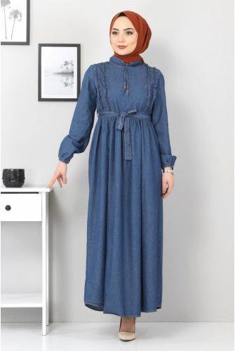 Its Frilly Jeans Dress TSD6267 Dark Blue