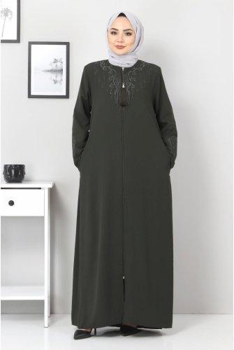 Its and Arms Embroidered Abayas TSD00011 Khaki