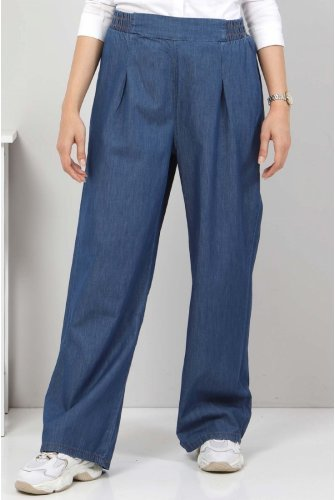 Pleated Plentiful Trotter Jeans Pants TSD22053 Dark Blue