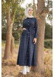 Pockets Dress Antrasit Saks - 3301