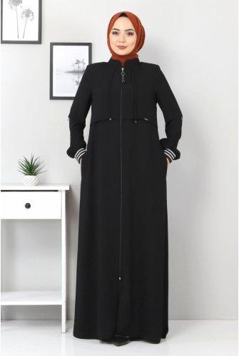 Ribanalı Abayas TSD7010 Black