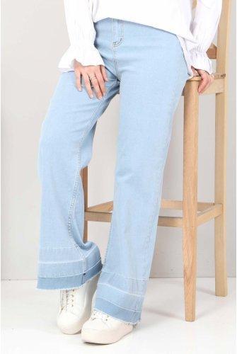Sökük Trotter Detailed Jeans Pants TSD2256 Light blue